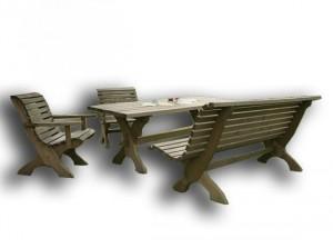 Záhradné sedenie z dreva