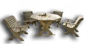 Záhradná súprava z dreva